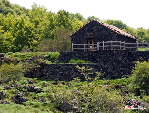 Picnic areas and shelters on mount Etna. Picnic areas and shelters on mount Etna